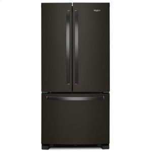 33-inch Wide French Door Refrigerator - 22 cu. ft. Fingerprint Resistant Black Stainless Product Image