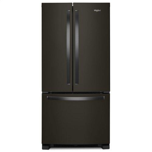 33-inch Wide French Door Refrigerator - 22 cu. ft. Fingerprint Resistant Black Stainless