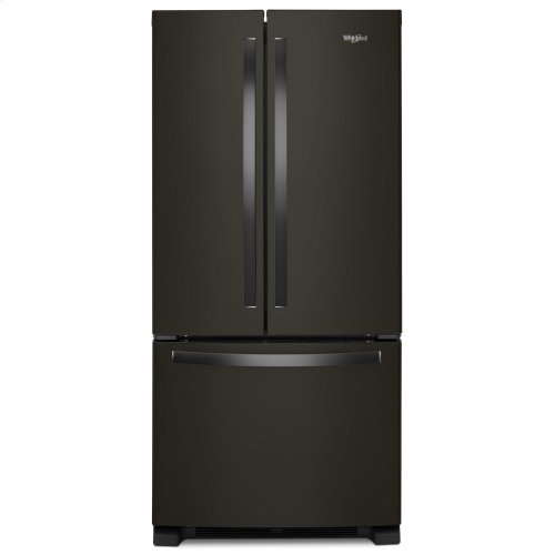 33-inch Wide French Door Refrigerator - 22 cu. ft. Fingerprint Resistant Black Stainless