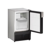 "Marine Series 15"" Marine Crescent Ice Maker With Stainless Solid Finish and Field Reversible (no Flange) Door Swing (115 Volts / 60 Hz)"