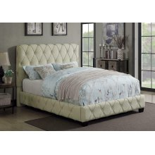 Elsinore Beige Upholstered Twin Bed
