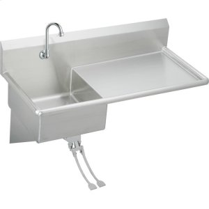 """Elkay Stainless Steel 49-1/2"""" x 24"""" x 10, Wall Hung Service Sink Kit Product Image"""