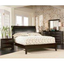 Phoenix Deep Cappuccino King Five-piece Bedroom Set
