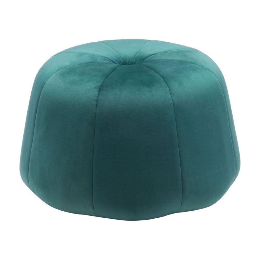 Dulcet Ottoman Green Velvet