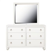Framed Dresser Mirror with LED Lighting