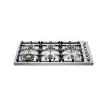 36 Drop-in Cooktop 6-burner Stainless Steel
