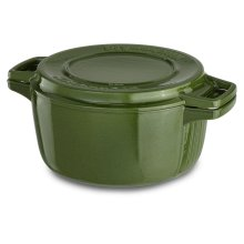 Professional Cast Iron 4-Quart Casserole Ivy Green