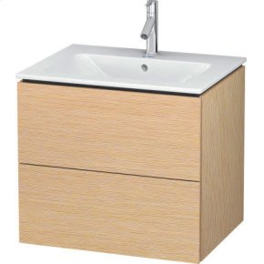 Vanity Unit Wall-mounted, Brushed Oak (real Wood Veneer)