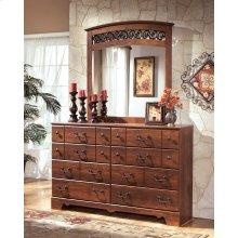 Timberline - Warm Brown 3 Piece Bedroom Set - Dresser, Mirror & Full/Queen Headboard