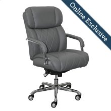Sutherland Quilted Leather Office Chair, Moon Rock Grey