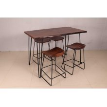 "Nature's Edge 52"" 5pc Counter Height Table With 4 Stools - L. Chestnut"