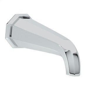 "Polished Chrome Perrin & Rowe Deco 7"" Wall Mount Bathtub Spout Product Image"