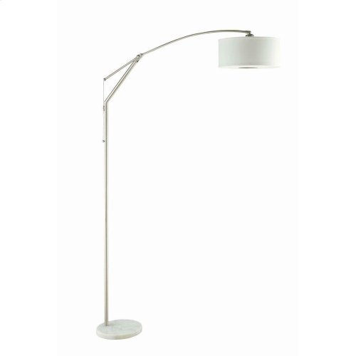 Contemporary White and Chrome Floor Lamp