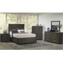 Altamonte Power Nightstand - Brushed Grey