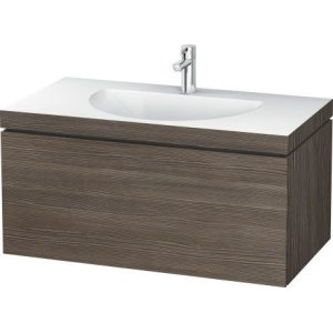 Furniture Washbasin C-bonded With Vanity Wall-mounted, Pine Terra (decor)