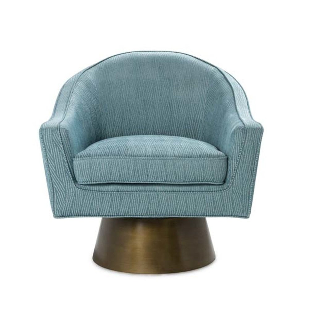 Modern Swivel Chair With Painted Bronze Base In P03
