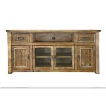 """70"""" TV Stand w/ 2 Drawers & 4 Doors"""