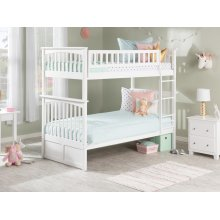 Columbia Bunk Bed Twin over Twin in White