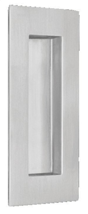 Modern Rectangular Flush Pull in (Modern Rectangular Flush Cup - Solid Stainless Steel) Product Image