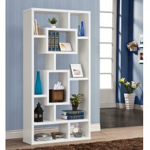 Geometric Cube White Bookcase