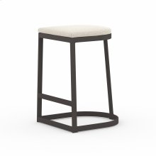 Counter Stool Size Faye Sand Cover Val Outdoor Bar + Counter Stool, Washed Brown