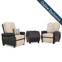 Breckenridge 3 Piece Patio Furniture Set, Natural Tan Product Image