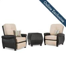 Breckenridge 3 Piece Patio Furniture Set, Natural Tan