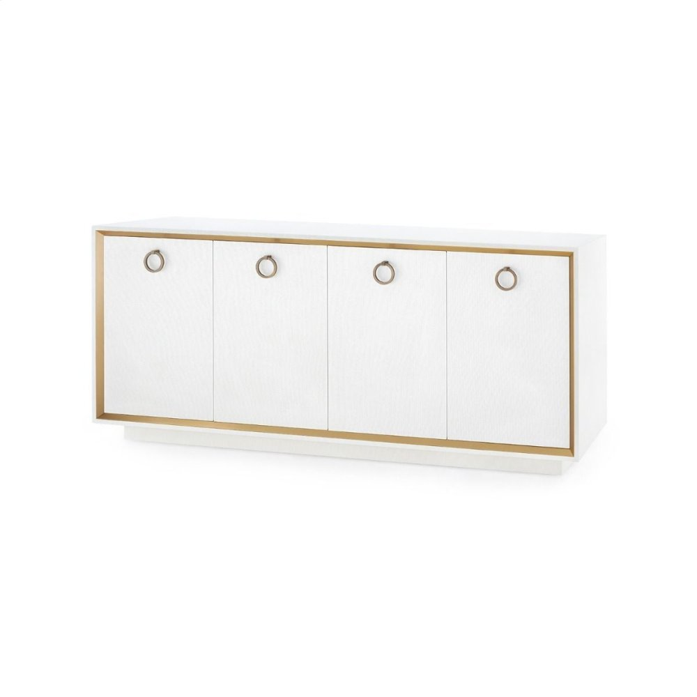 Ansel 4-Door Cabinet, White