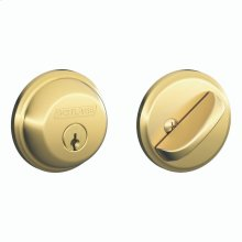 Single Cylinder Deadbolt - Bright Brass