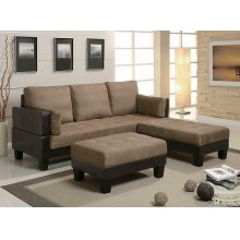 Ellesmere Contemporary Tan Sofa Bed