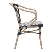 Paris Dining Arm Chair Black & White