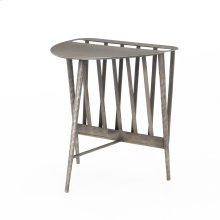Antique Nickel Finish Harrell End Table