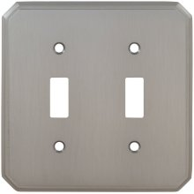 Double Traditional Switchplate in (US15 Satin Nickel Plated, Lacquered)