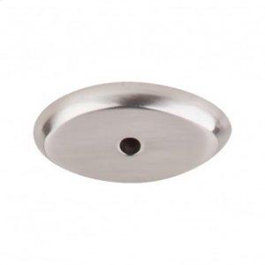 Aspen II Oval Backplate 1 1/2 Inch - Brushed Satin Nickel