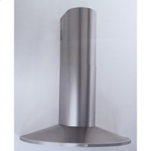 "35-7/16"" (90cm) Stainless Steel Chimney Hood, 370 CFM Internal Blower"