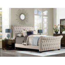 Richmond King Bed, Linen Stone