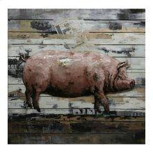 Country Pig Wall Décor