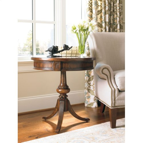 Living Room Round Pedestal Accent Table