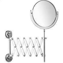 Satin Nickel (us15) Plain / magnifying (x5) extendable mirror