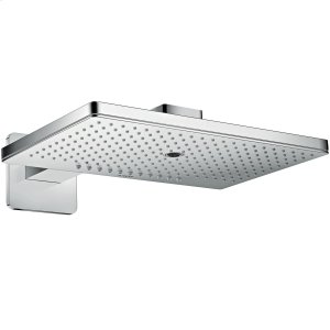 Chrome Overhead shower 460/300 3jet with shower arm and softcube escutcheon Product Image