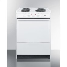"""24"""" Wide Slide-in Electric Range In White With Lower Storage Compartment; Replaces Wem610rt"""