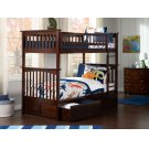 Columbia Bunk Bed Twin over Twin with Urban Bed Drawers in Walnut Product Image