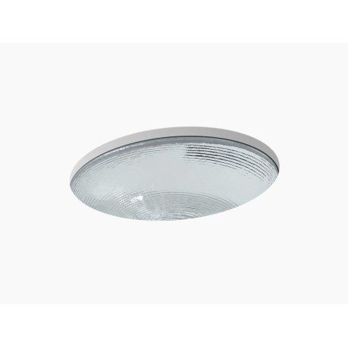 Translucent Doe Glass Under-mount Bathroom Sink