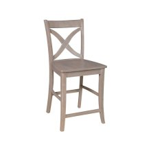 Salerno Stool in Taupe Gray