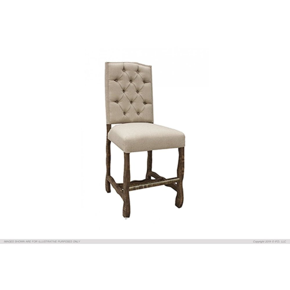 "24"" Uph. Barstool w/ Tufted Back"