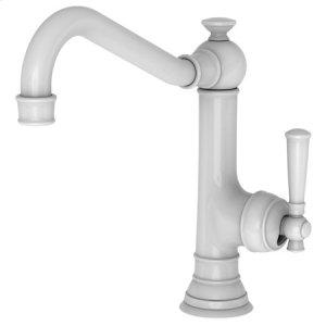 White Single Handle Kitchen Faucet