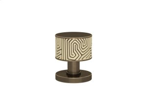 Recess Amalfine Labyrinth In Sand And Fine Antique Brass Product Image