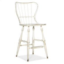 Dining Room Ciao Bella Spindle Back Bar Stool-White