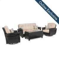 Breckenridge 4 Piece Patio Furniture Set, Natural Tan Product Image