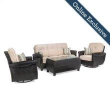 Breckenridge 4 Piece Patio Furniture Set, Natural Tan